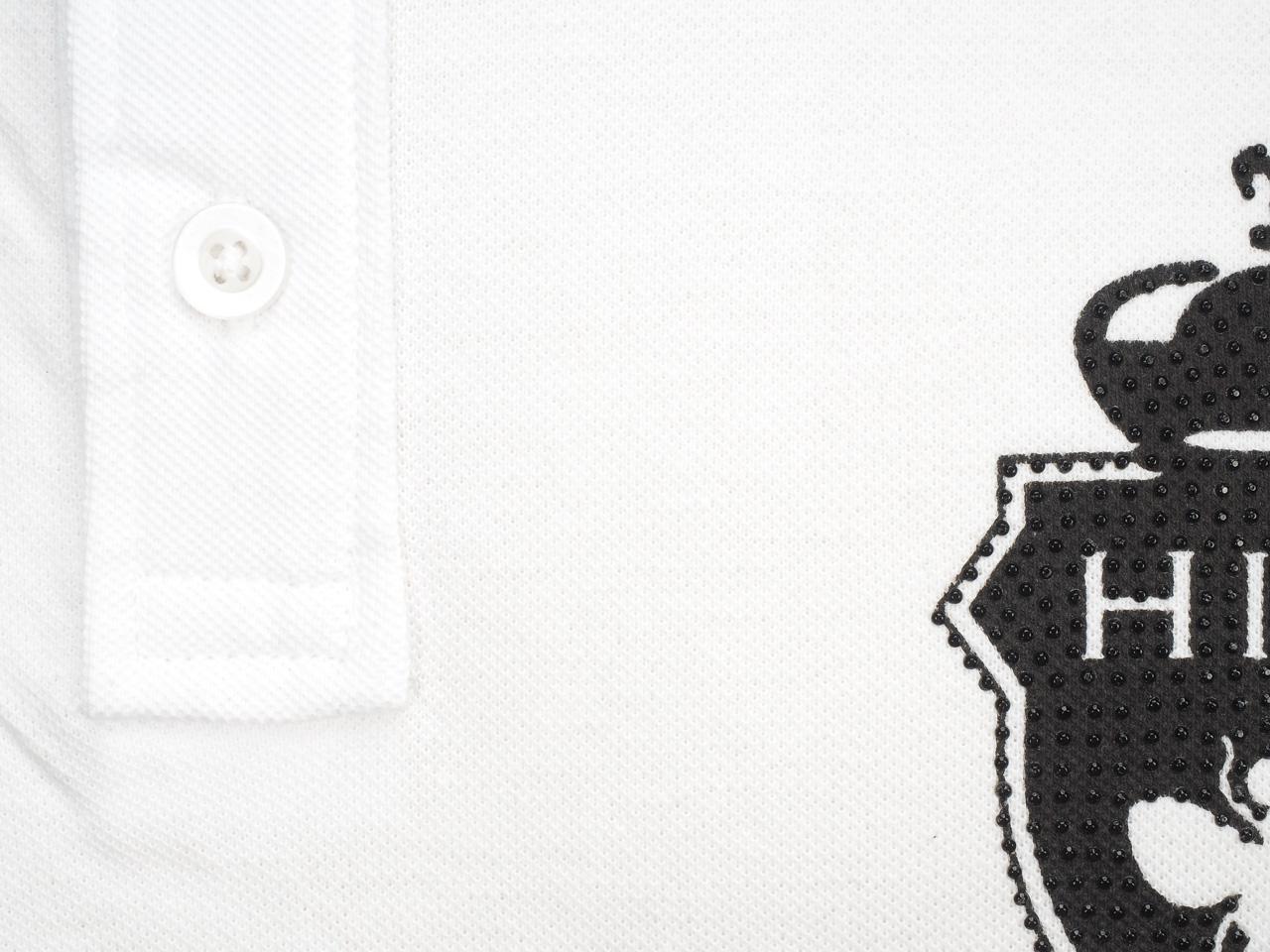 Short-Sleeve-Polo-Hite-Couture-Peltit-White-Mc-Polo-White-83128-New thumbnail 4