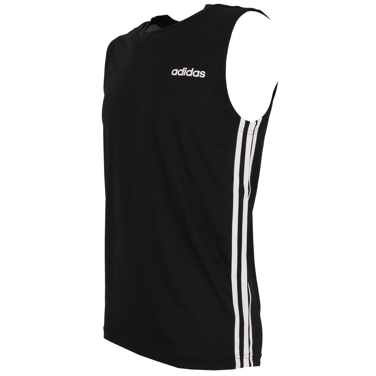 Sleeveless-Shirt-Adidas-D2m-Sl-3s-Blk-Sm-Tee-Black-90912-New thumbnail 4