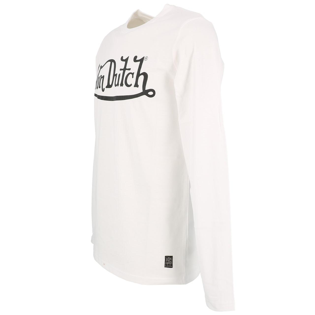 T-Shirt-Von-dutch-Boss-White-ML-Tee-White-91359-New thumbnail 4