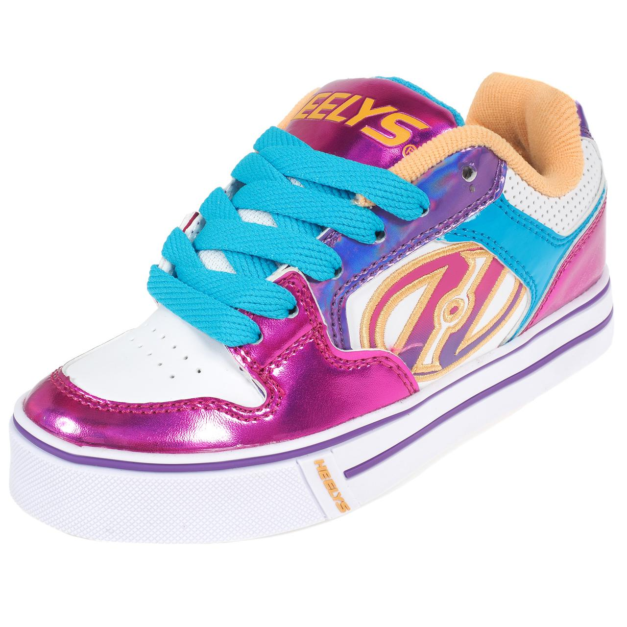 Shoes-to-Casters-Heelys-Motion-More-Fuchsia-White-Pink-11296-New