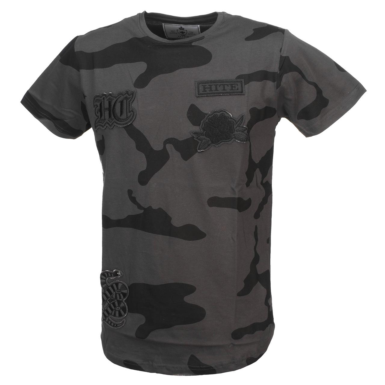 Short-Sleeve-T-Shirt-Hite-Couture-bet-Camo-Anth-Mc-Tee-Grey-11535-New