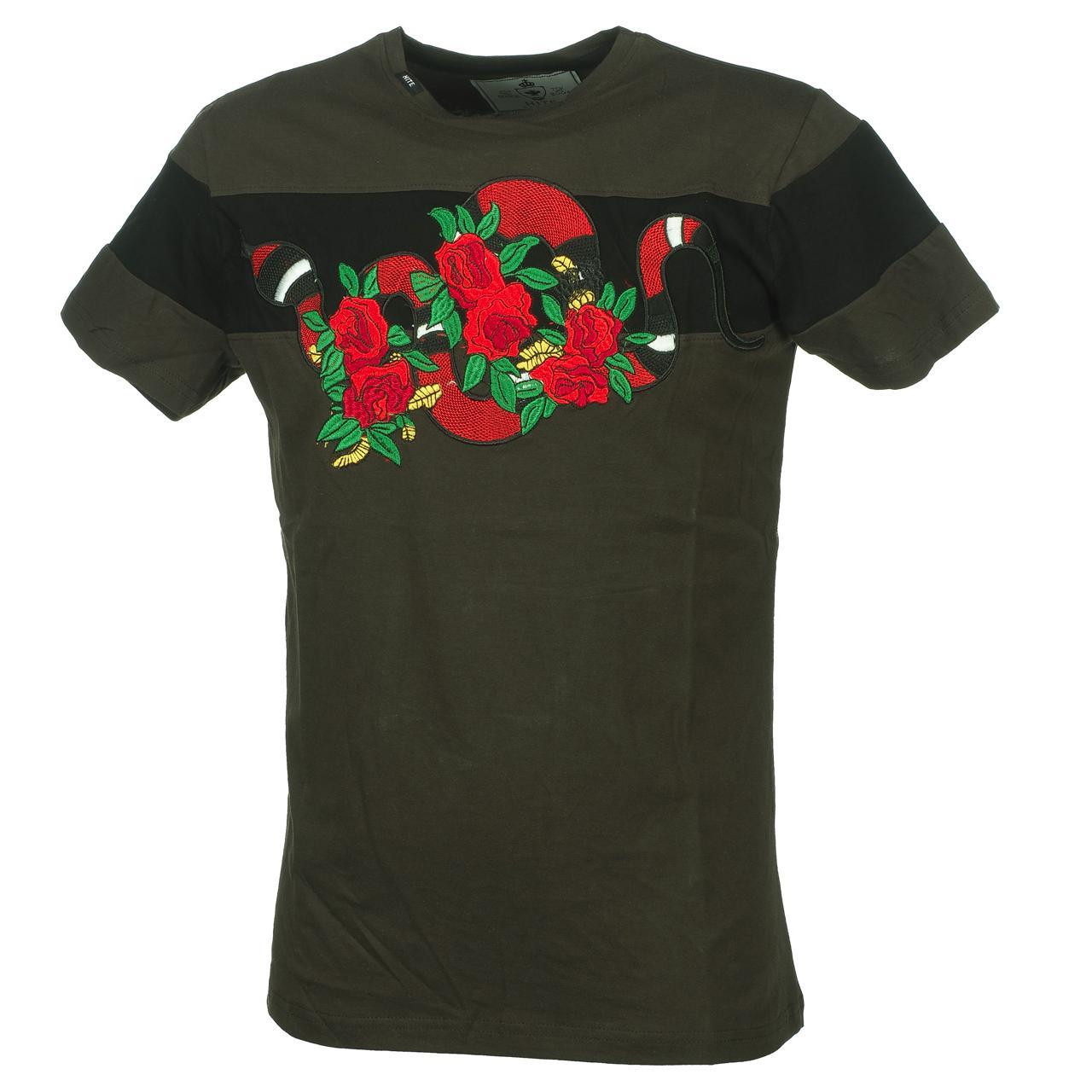 Short-Hite-Couture-Mixer-Kakiblack-Mc-Tee-Green-11537-New