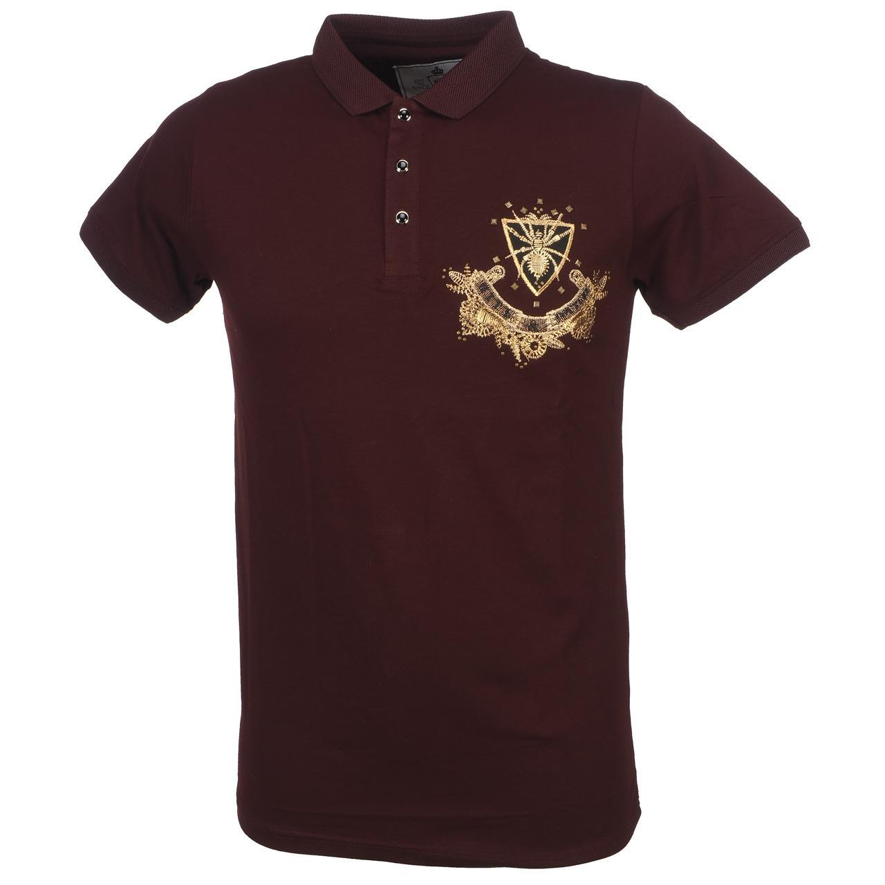 Short-Sleeve-Polo-Hite-Couture-Pamiler-Bordeaux-Mc-Polo-Red-11573-New