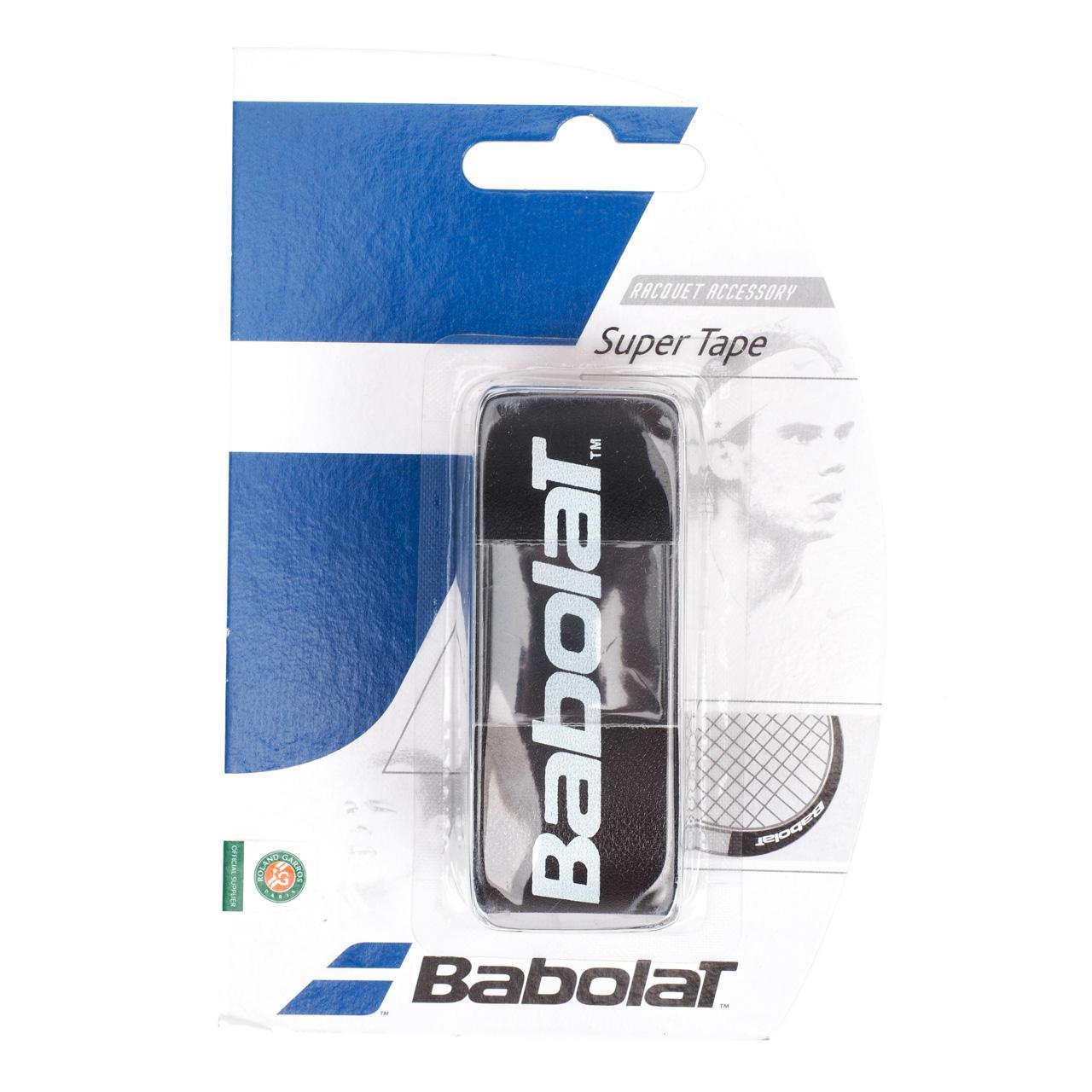 Protection-de-raquette-tennis-Babolat-Super-tape-noir-Noir-14136-Neuf