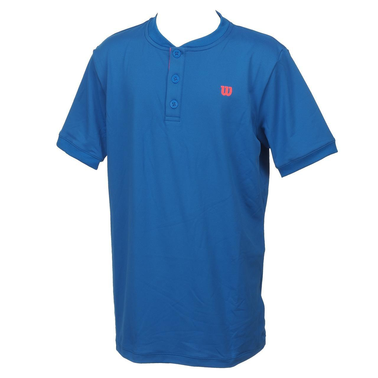 T-Shirt-Tennis-Wilson-Henley-Jr-Blue-Mc-Blue-15572-New