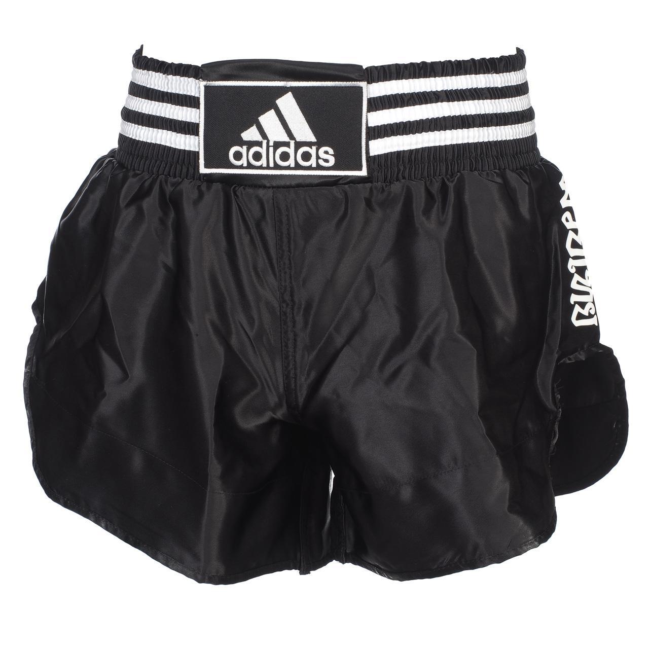 Détails sur Short de boxe Adidas Short noirblc boxe thai Noir 16038 Neuf