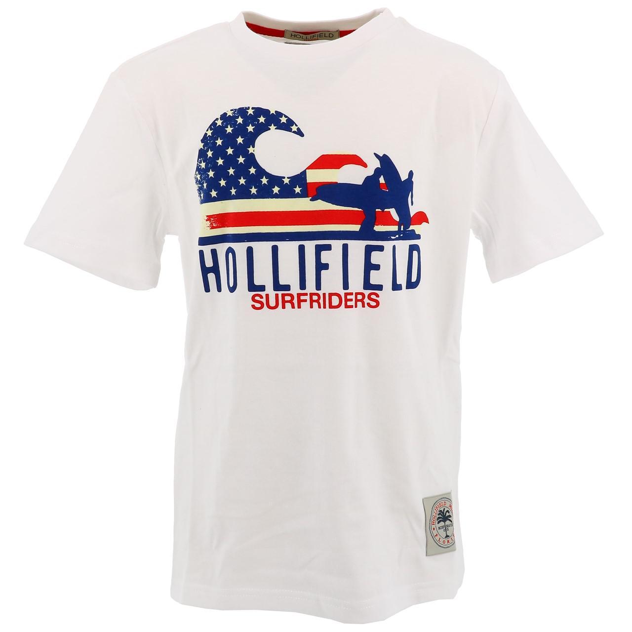 Tee-shirt-manches-courtes-Hollifield-Largo-blanc-mc-tee-jr-sp2-Blanc-17469-Neu