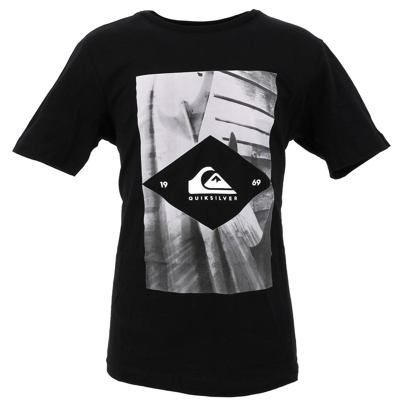 Tee-shirt-manches-courtes-Quiksilver-15341-flaxton-blk-jr-sp2-Noir-17517-Neuf