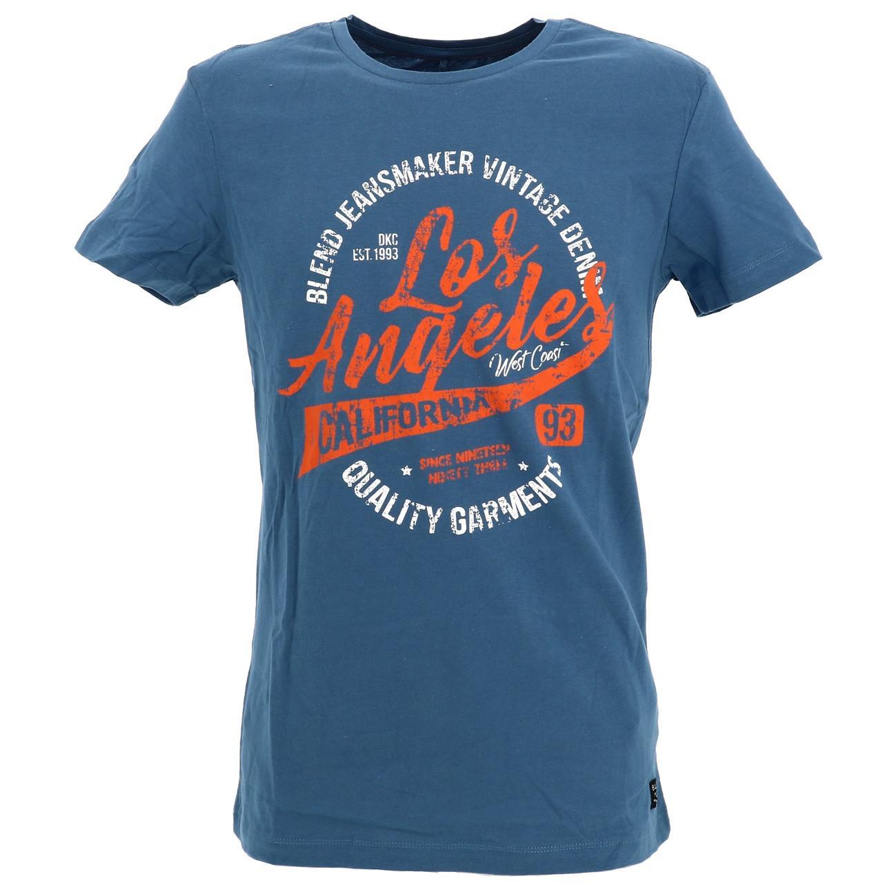 Short-Sleeve-T-Shirt-Blend-Angel-Coronet-Blue-Mc-Tee-Blue-18047-New