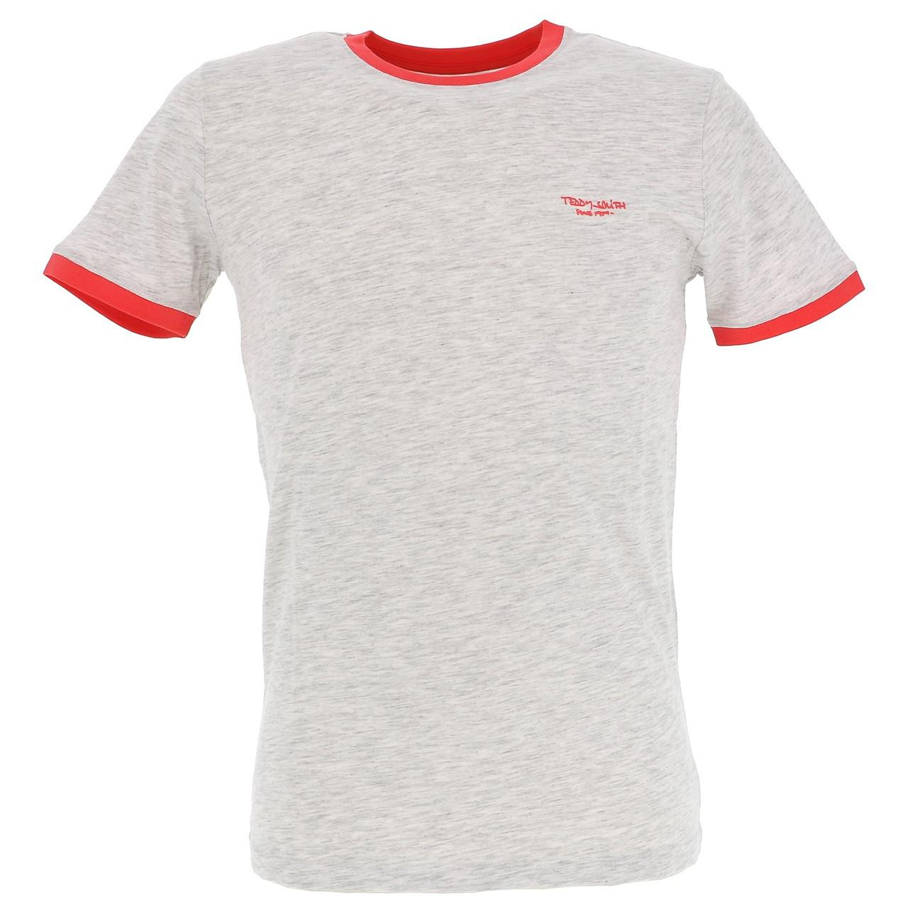 Short-Sleeve-T-Shirt-Teddy-Smith-the-Tee-Wht-Mel-Coral-White-18160-Does-Not