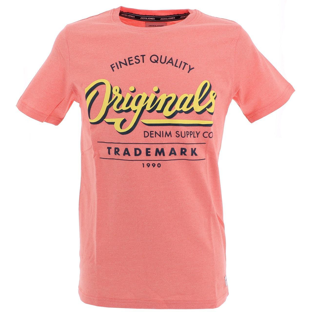 Short-Sleeve-T-Shirt-Jack-and-Jones-Quinn-Persimmon-Mc-Tee-Orange-18539-N