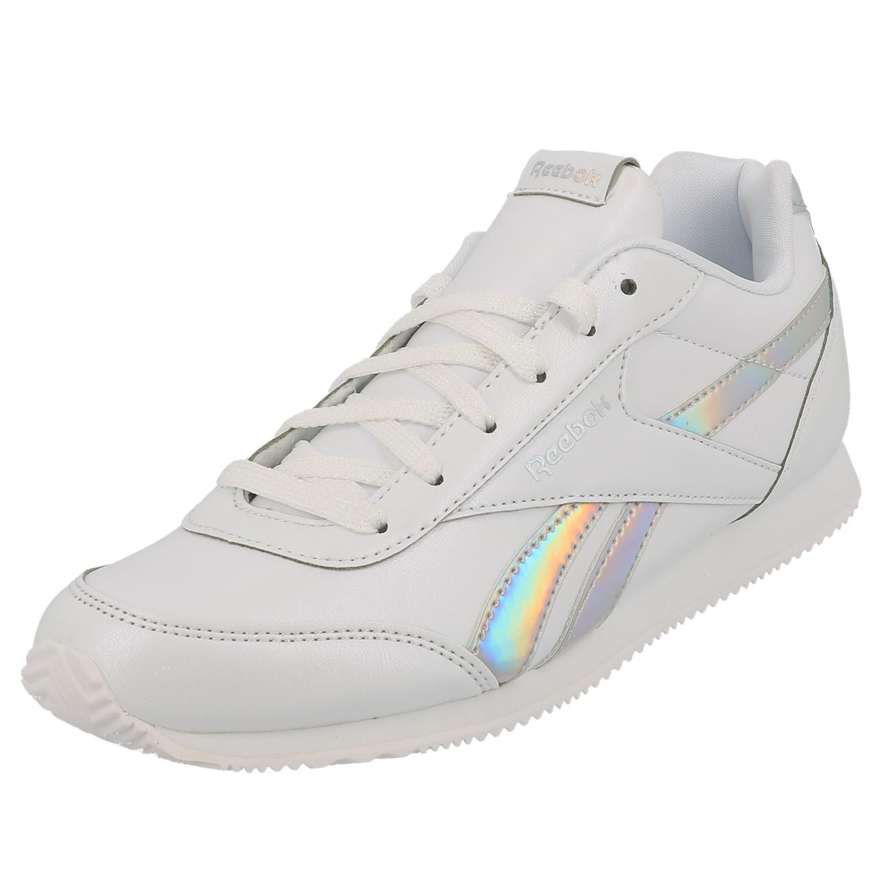 Schuhe-Niedrig-Leder-oder-Faux-Reebok-Royal-Cljog-White-Maedchen-Weiss-18852-Neu