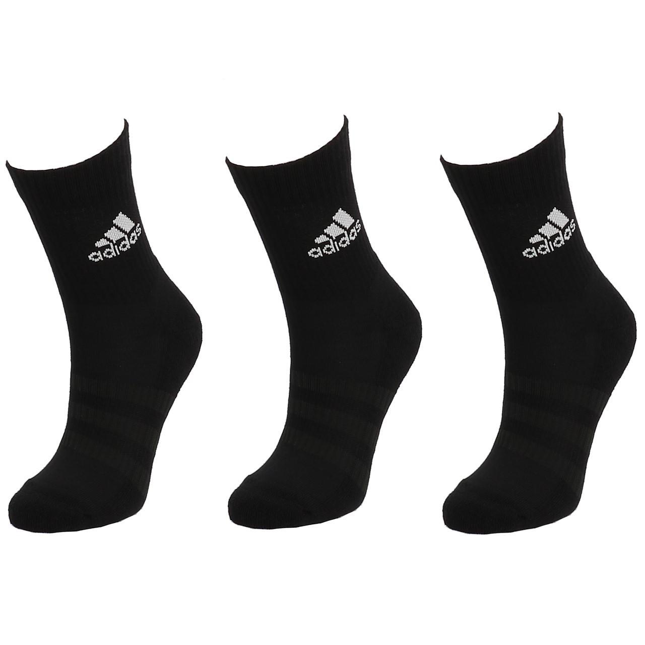 Socks-Adidas-3s-Perf-Crew-cho7-nr-3pp-Black-19055-New
