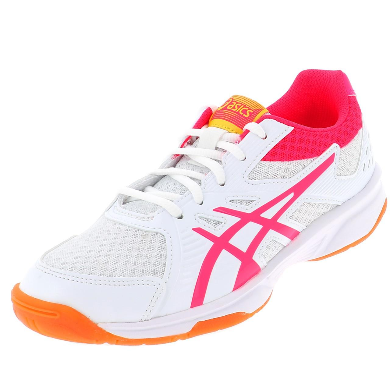 Shoes-Volleyball-Basketball-Asics-Upcourt-3-Wht-Indoor-G-White-19557-New