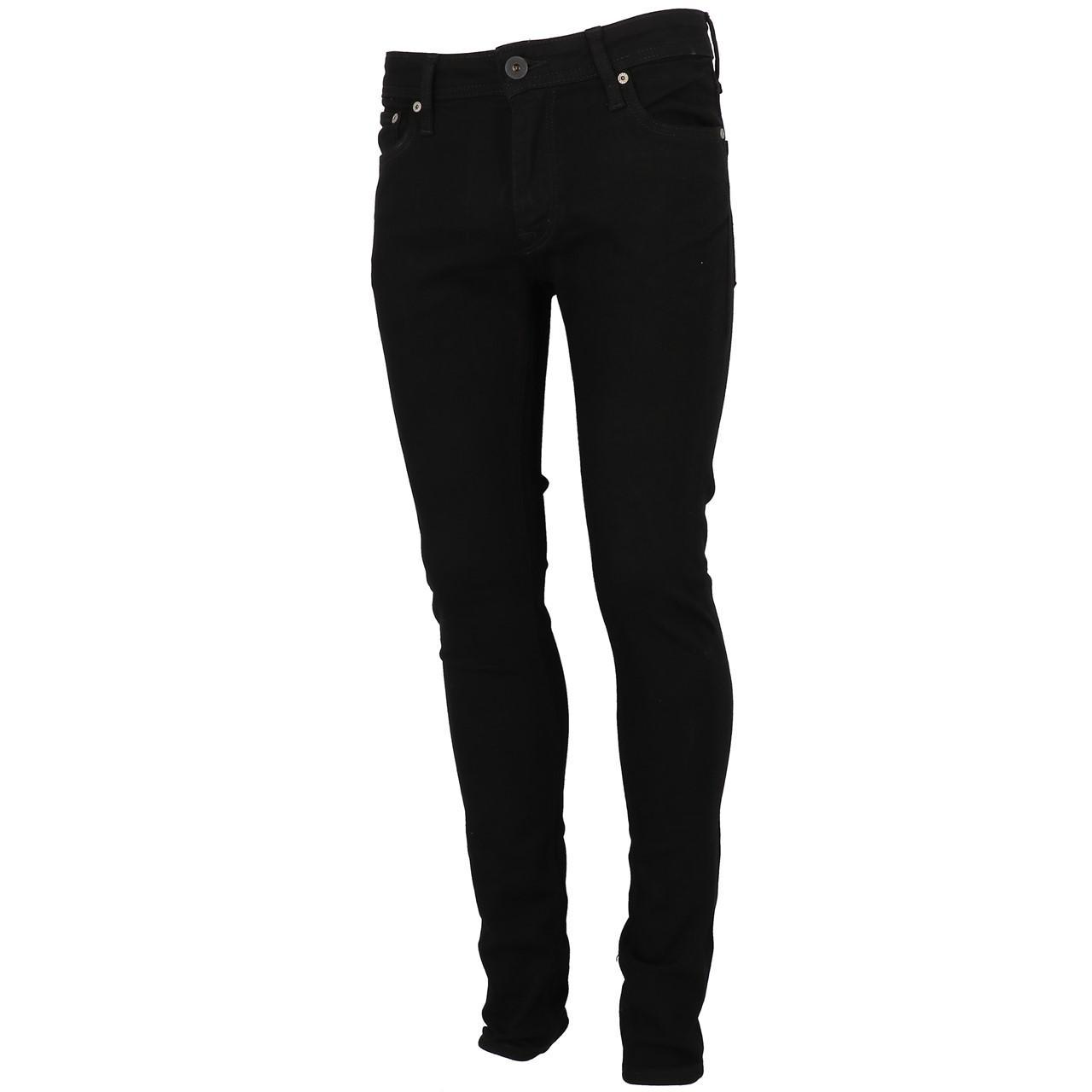 Jeans-Pants-Jack-and-jones-Liam-32-Blk-Denim-Black-Jeans-19909-New