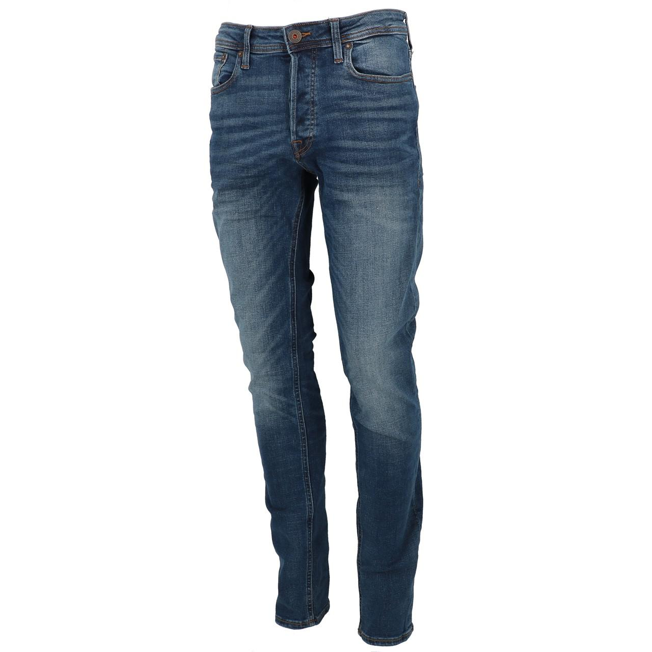 Jeans-Pants-Jack-and-jones-Tim-34-Blue-Denim-Blue-Jeans-19918-New