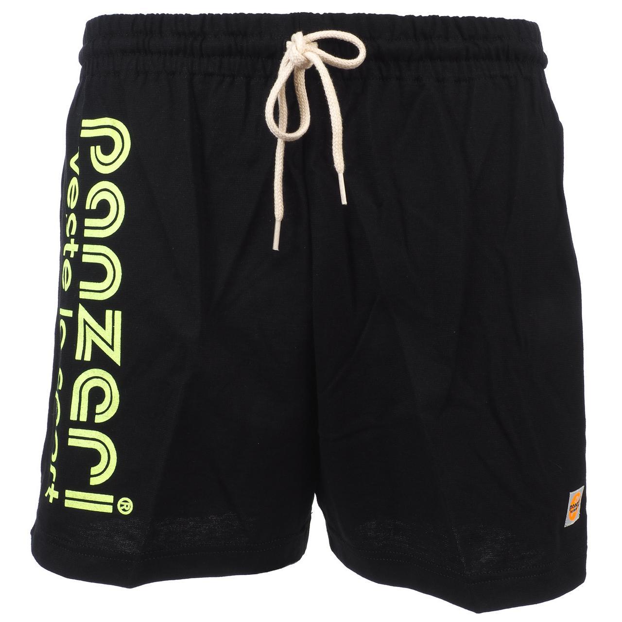Shorts-Multi-Panzeri-Plain-a-Black-Flowers-Jne-Jersey-Black-22068-New