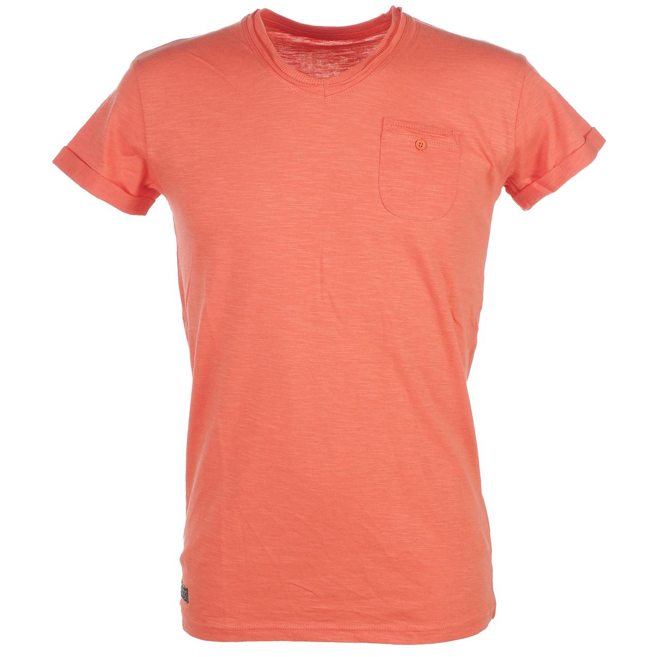 Tee-shirt-manches-courtes-Biaggio-Louisianel-corail-mc-tee-Orange-22338-Neuf