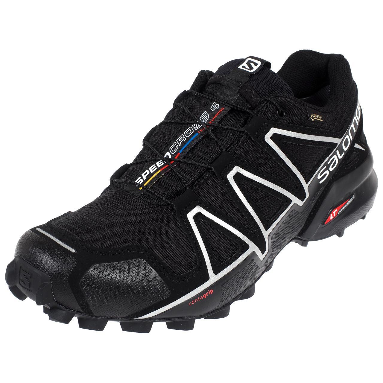 Zapatos-Running-Rastro-Salomon-Speed-Cross-4-GTX-Nr-Run-Negro-24186-Nuevo
