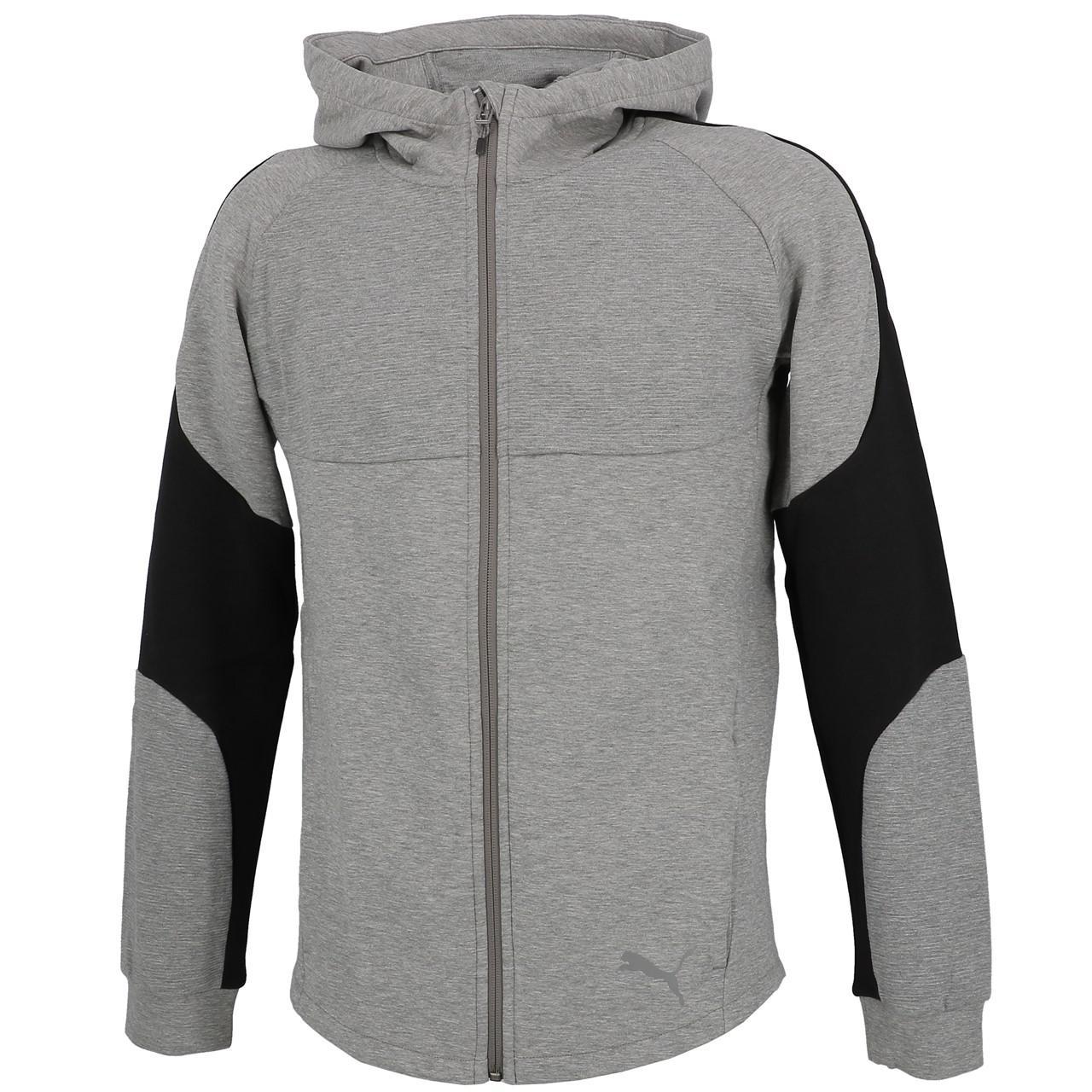 Jacken-Sweatshirts-Zipped-Kapuze-Puma-Evostripe-Anc-Fzcap-Sw-Jr-Grau-25708-Neu