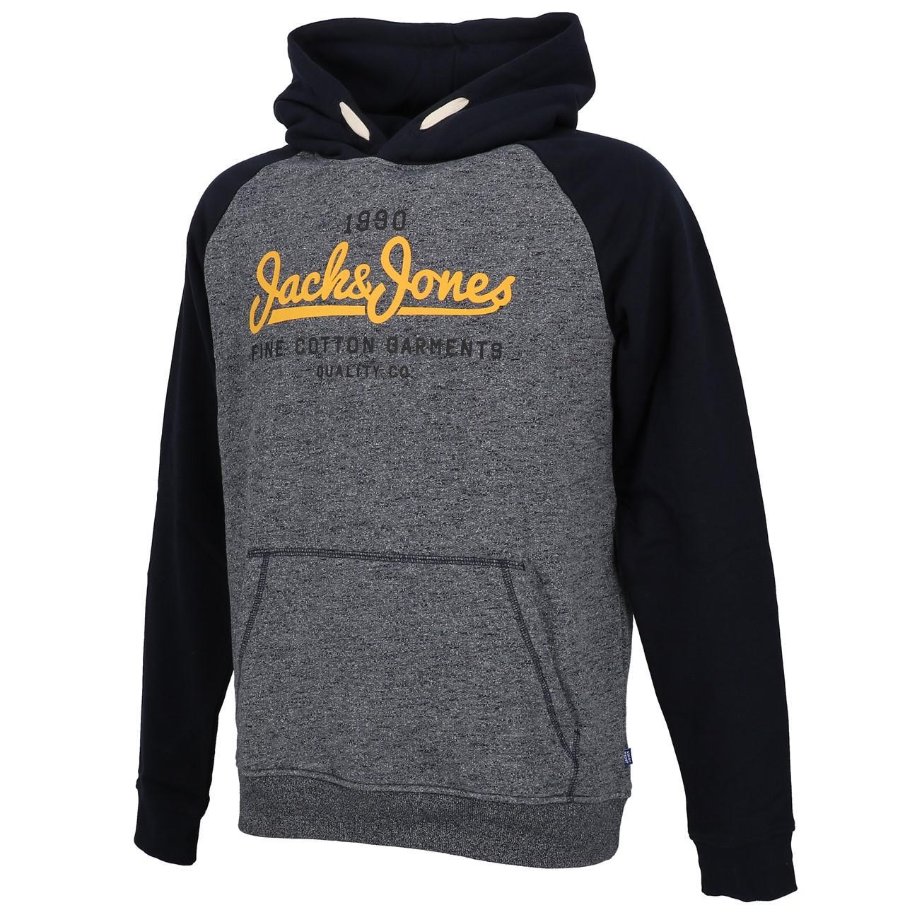 Sweatshirt-Kapuze-Kapuzenpulli-Jack-And-Jones-Kontrast-Umhang-Nv-Jr-Blau-25851