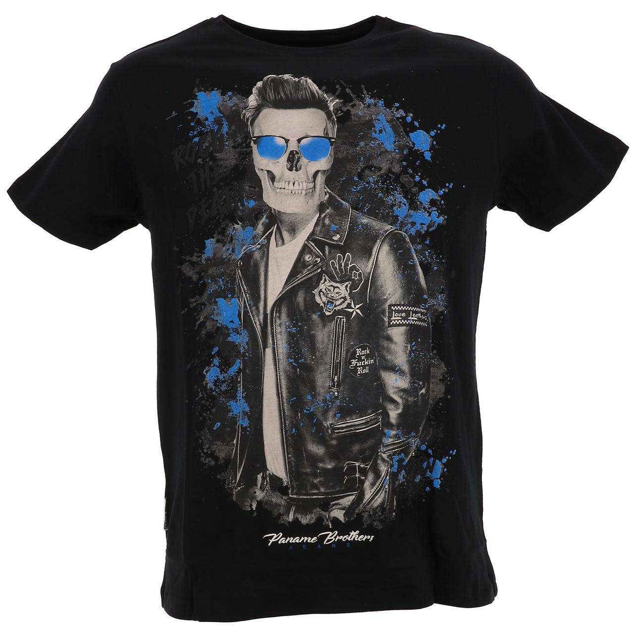 Short-Sleeve-T-Shirt-Paname-Brothers-Merico-Black-Mc-Tee-Black-26749-New