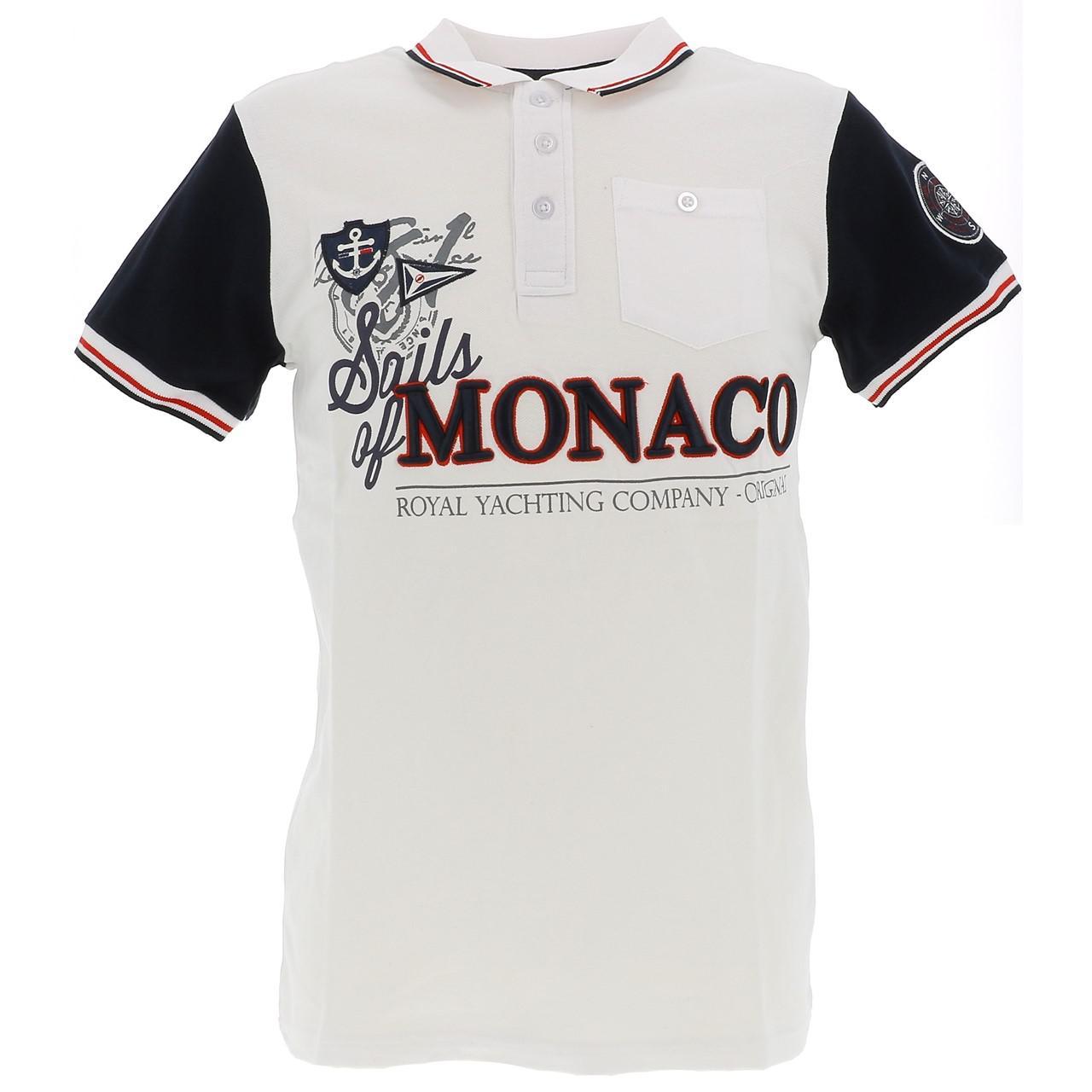 Short-Sleeve-Polo-Sails-of-monaco-Pago-White-Mc-Polo-White-27185-New