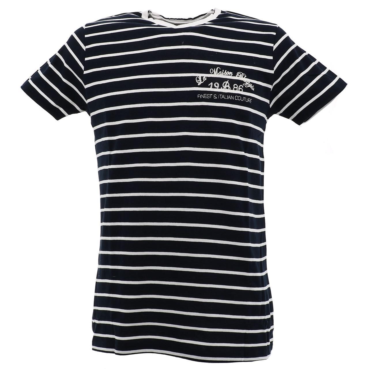 Short-Sleeve-T-Shirt-La-Maison-Blaggio-Mavili-Navy-Wht-Mc-Tee-Blue-27335