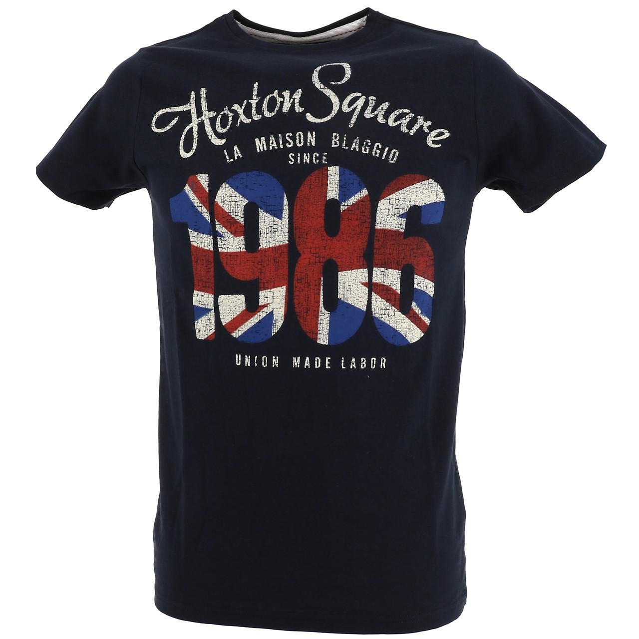 Short-Sleeve-T-Shirt-La-Maison-Blaggio-Marteli-Navy-Mc-Tee-Blue-27339-New