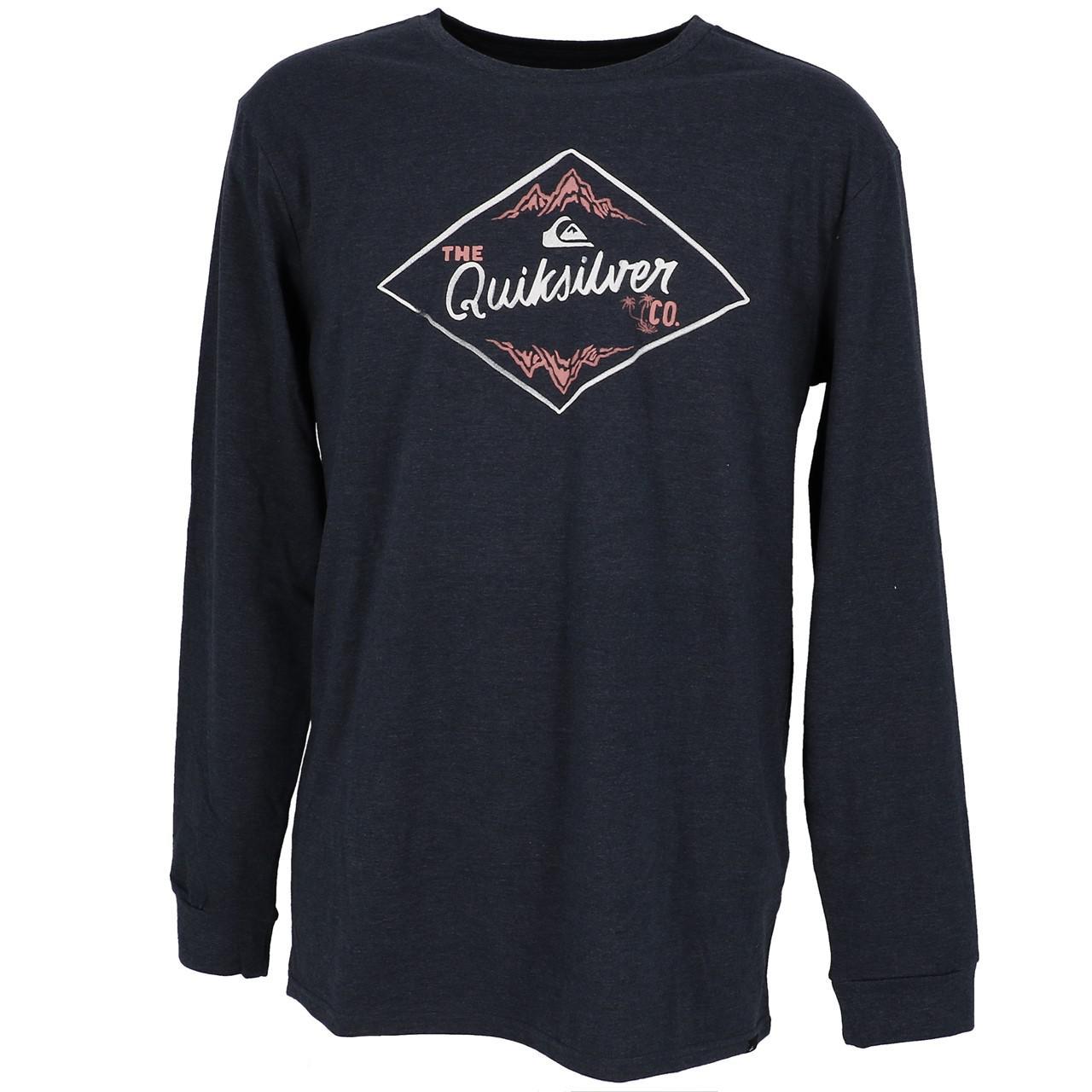 Tee-shirt-manches-longues-Quiksilver-California-wounds-nv-tee-Bleu-27852-Neuf