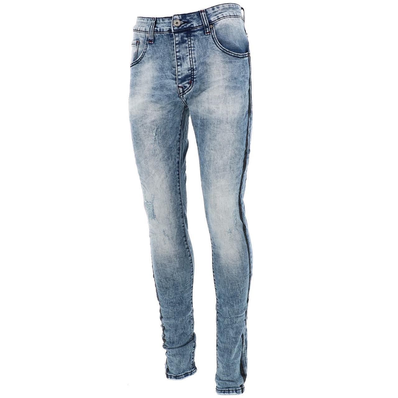 Jeans-Pants-Slim-Terance-Koll-Oscar-Denim-Jeans-Skinny-Blue-28526-New
