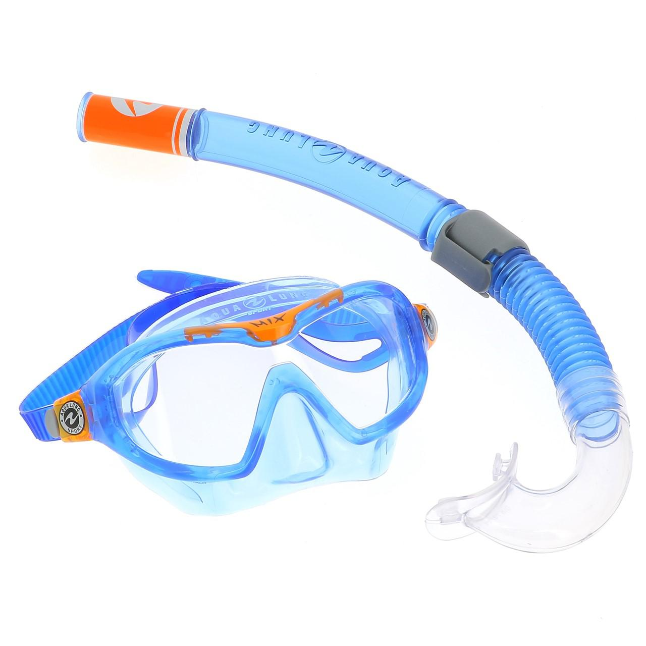 Mask-and-Tubas-Scuba-Dive-Aqualung-Combo-Mix-Blue-Org-Jr-Blue-28601-New