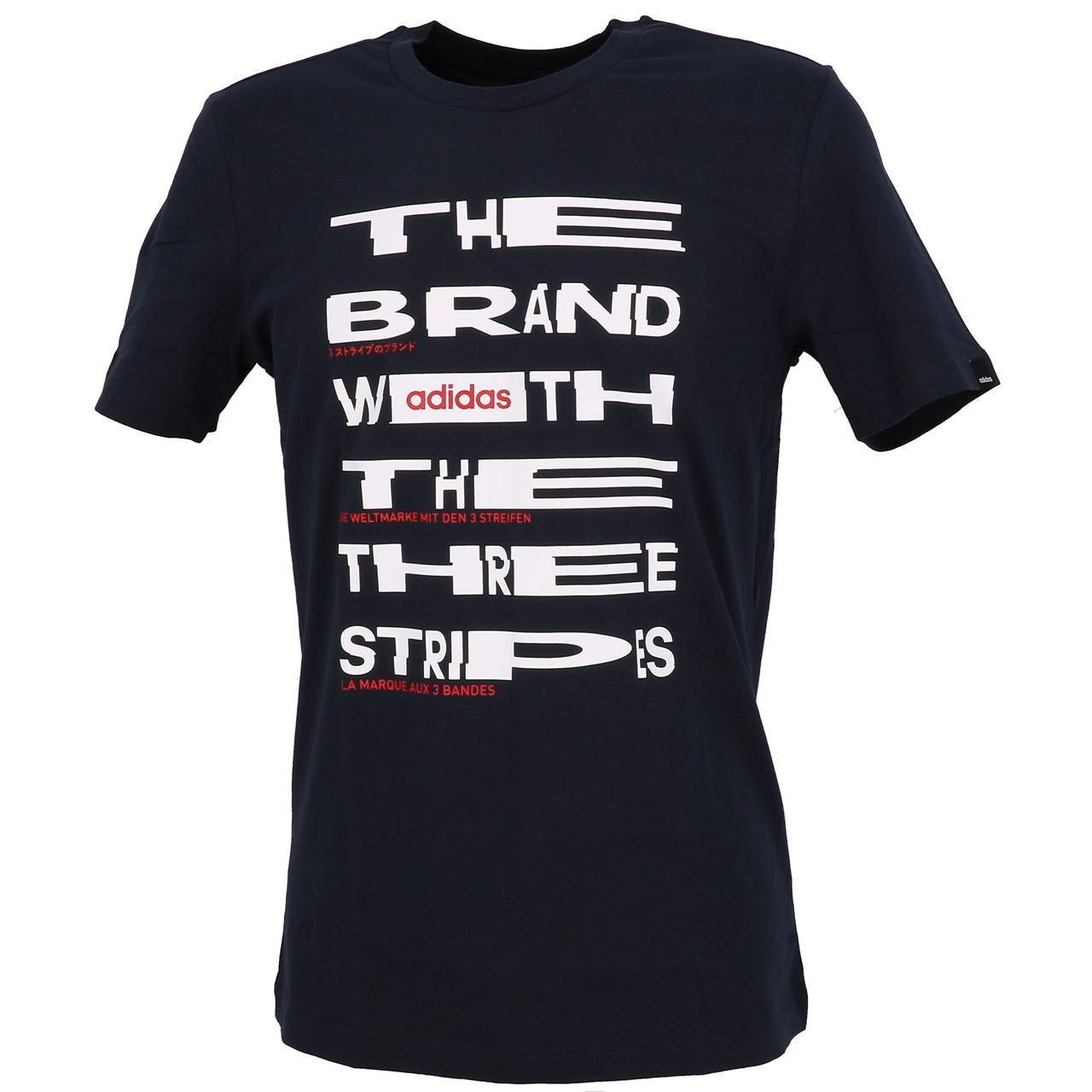 Short-Adidas-Dist-Fnt-Navy-White-Mc-Tee-Blue-29223-New