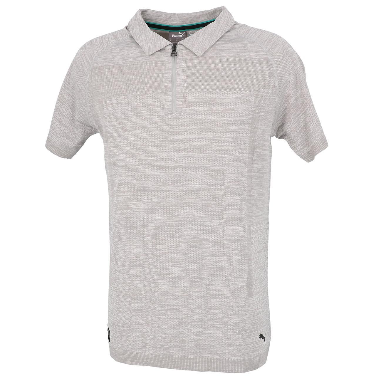 Short-Sleeve-Polo-Puma-Mapm-Rct-Evoknit-Groups-Polo-Grey-30141-New