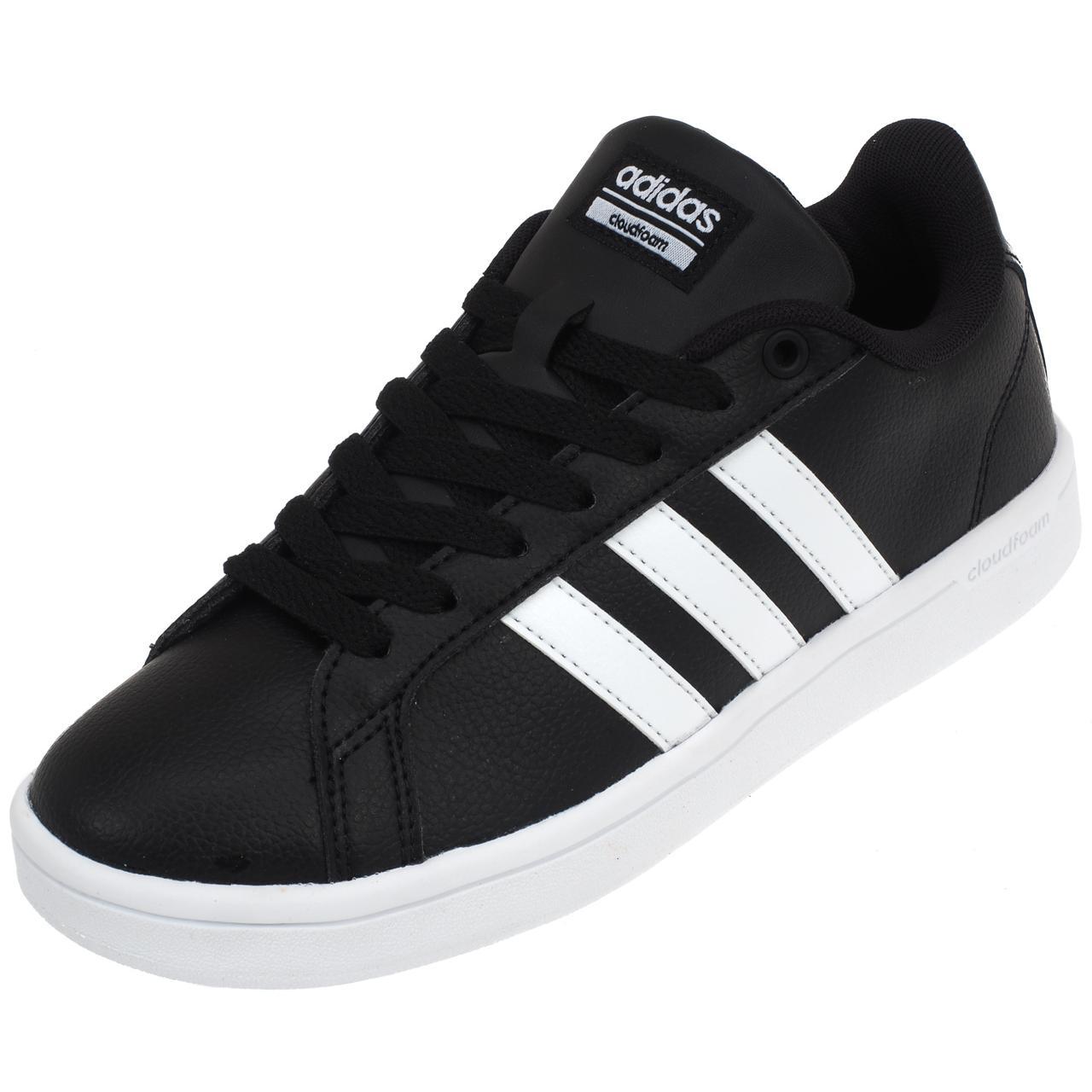 CHAUSSURES MODE VILLE Adidas Advantage noir blc Noir 38906