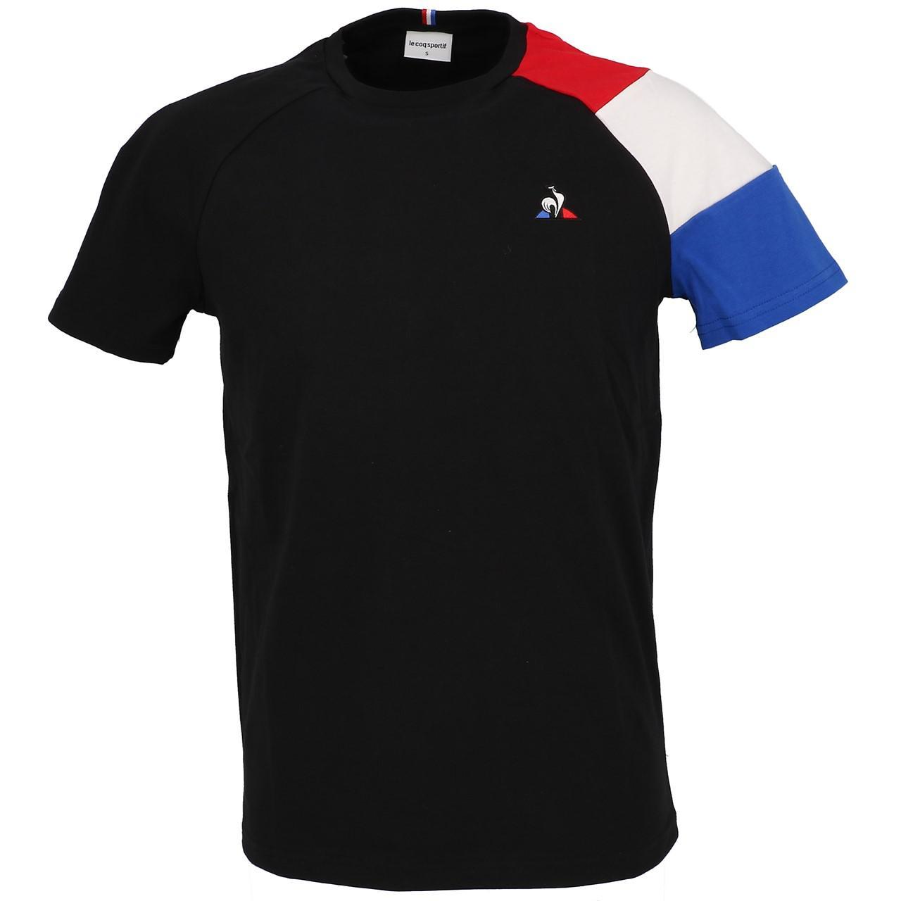 Short-Le-coq-sportif-Tricolor-Tee-H-Black-Black-40704-New