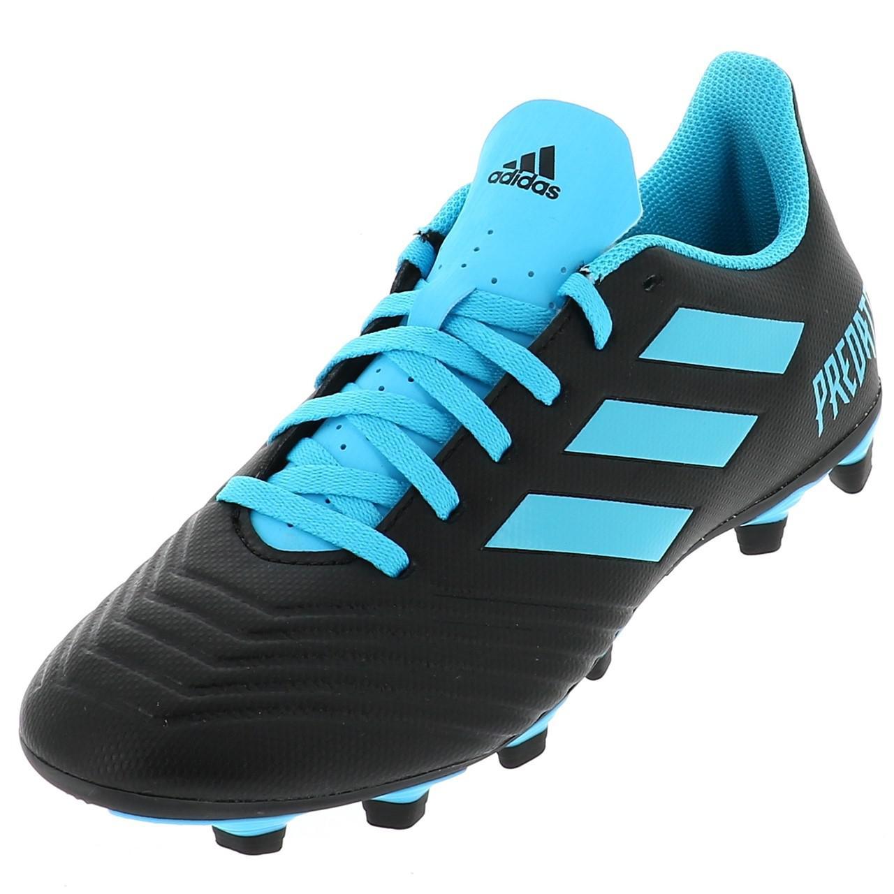 Chaussures-football-lamelles-Adidas-Predator-19-4-fg-grorg-Noir-42821-Neuf
