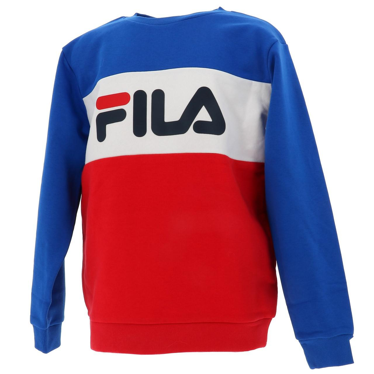 Sweatshirt-Fila-Nacht-Blockiert-Jr-Roy-Rge-Blau-43025-Neu