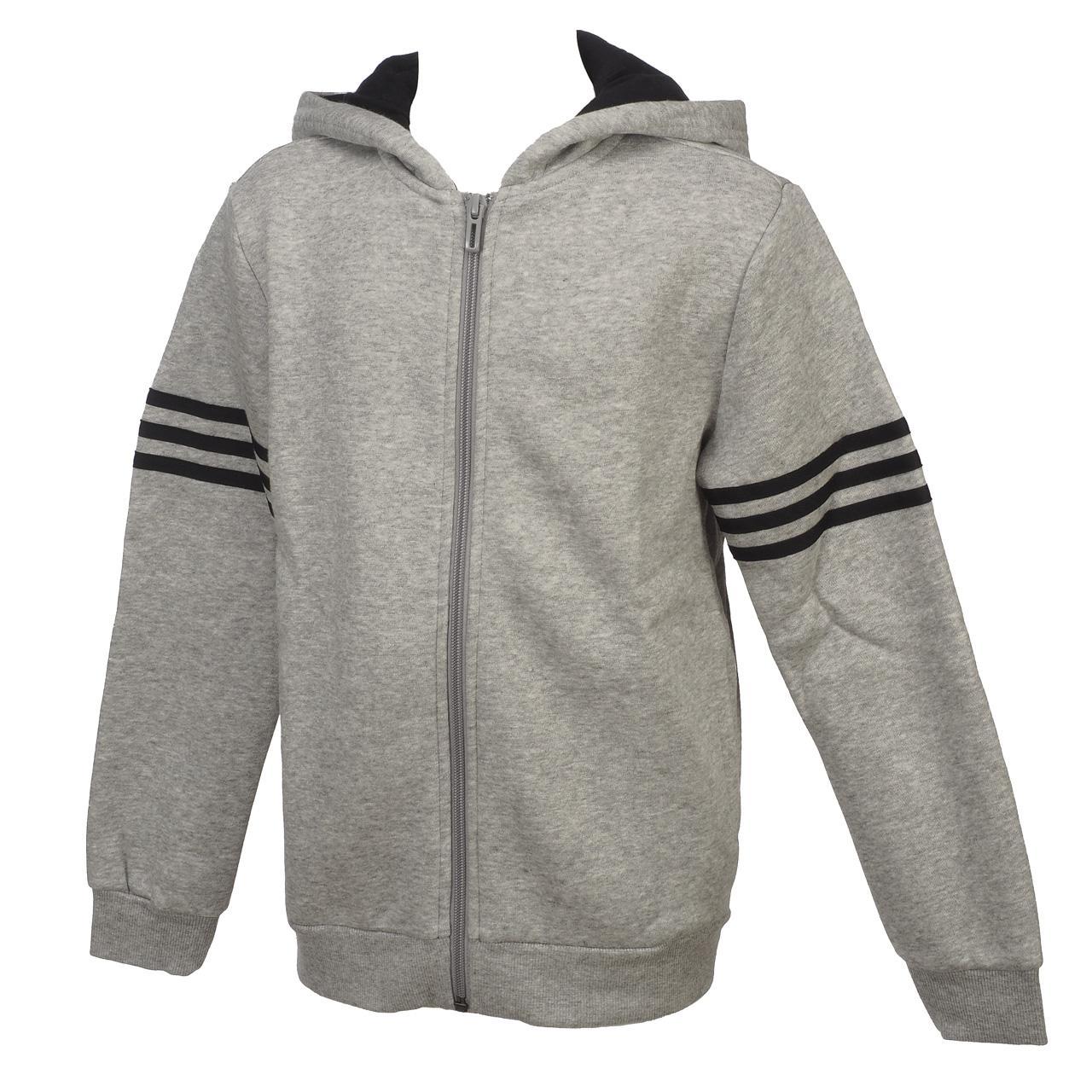 Jacken-Sweatshirts-Zipped-Kapuze-Adidas-Yb-Sid-Grc-Fz-Capsweat-Jr-Grau-46495