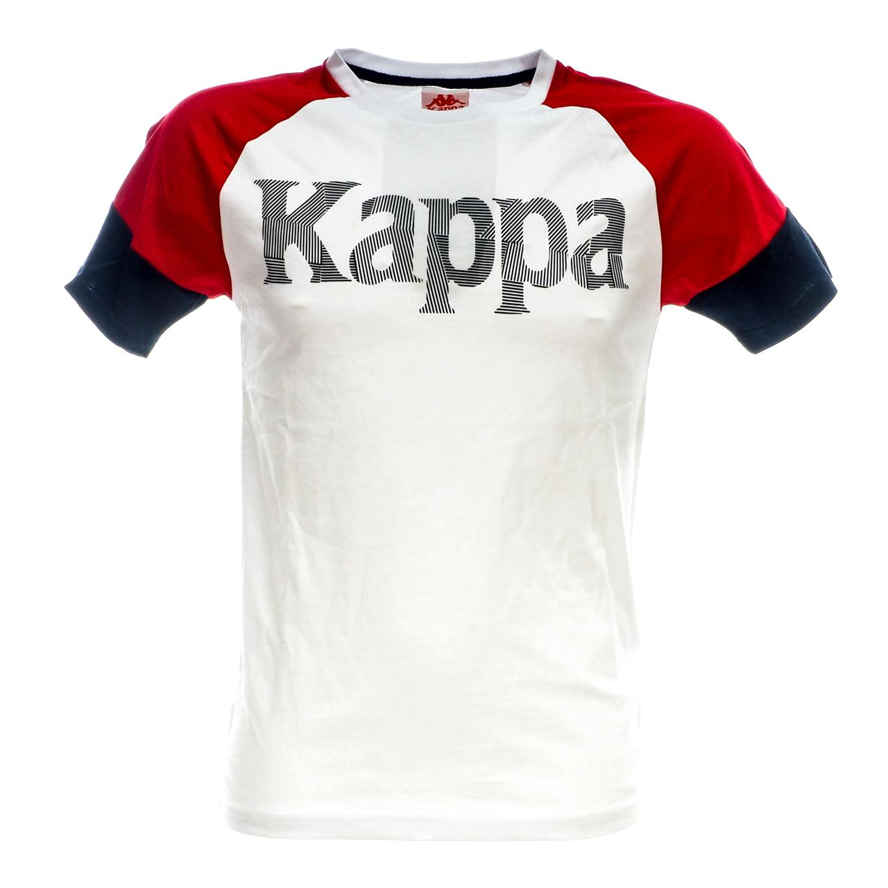 Short-Sleeve-T-Shirt-Kappa-Irmiou-Red-White-Navy-White-46521-New
