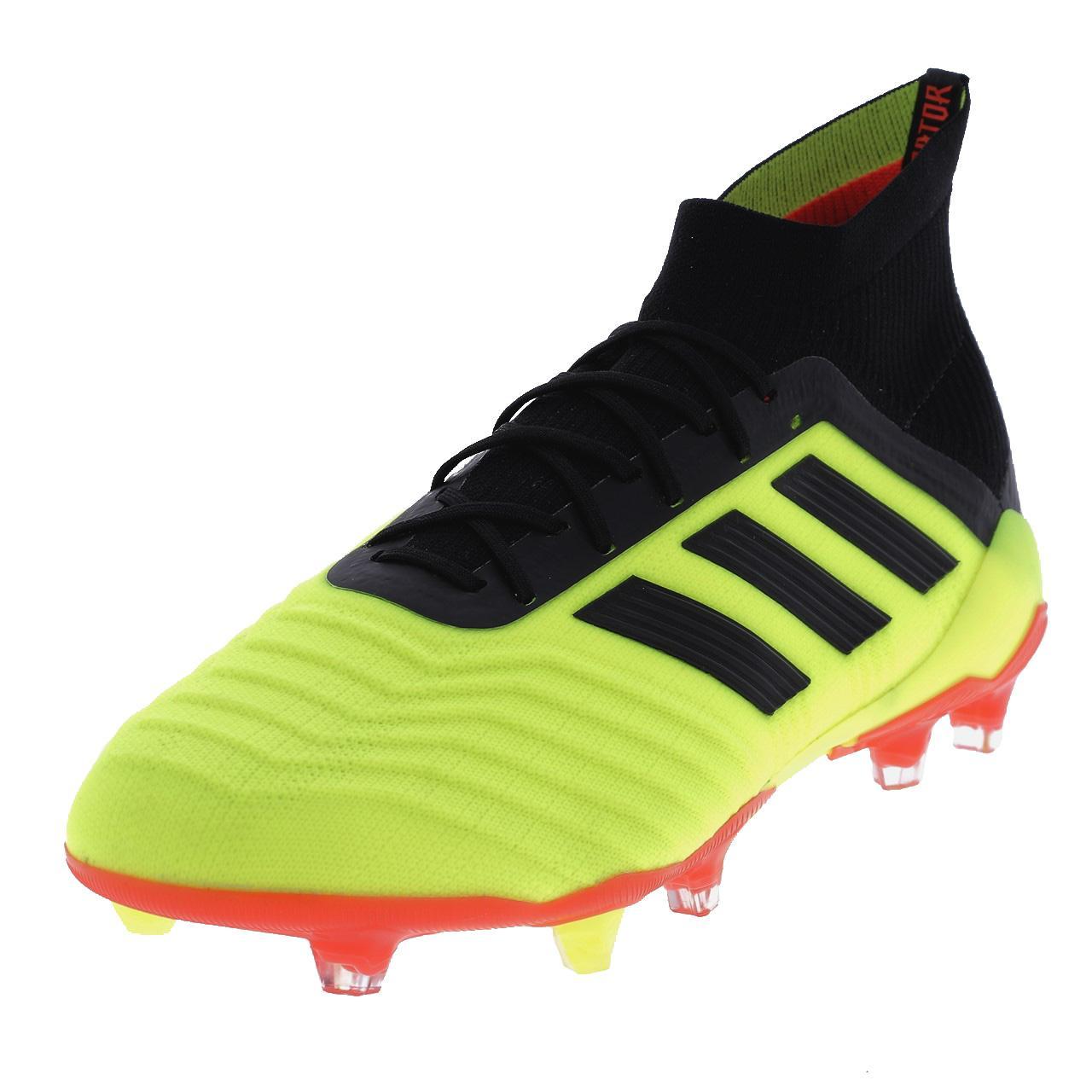 Football-Shoes-Flap-Adidas-Predator-18-1-Fg-Syello-Yellow-47849-New
