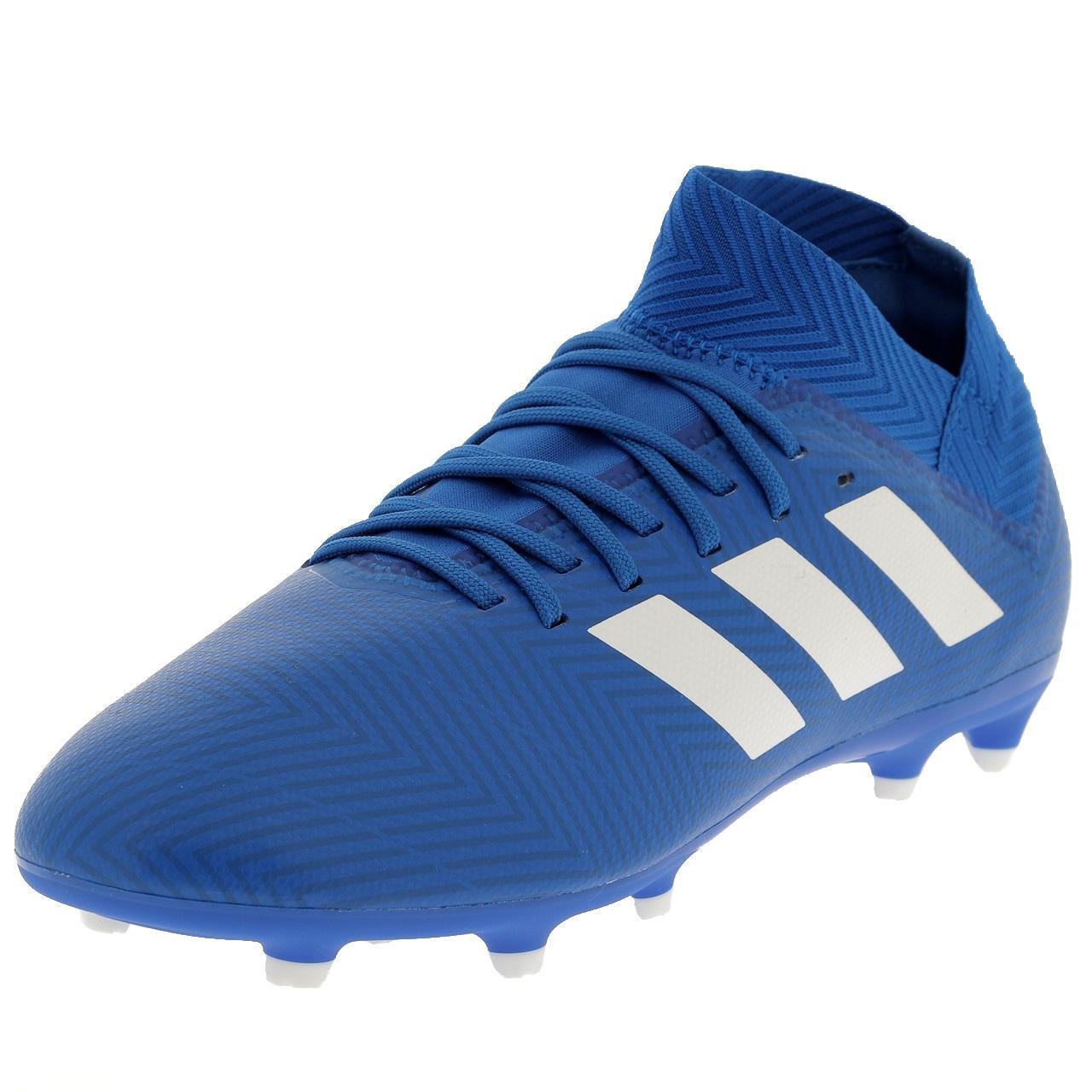 Dettagli su Scarpe Calcio Lamelle Adidas Nemeziz 18.3 Fg Jr Blu 47850 Nuovo