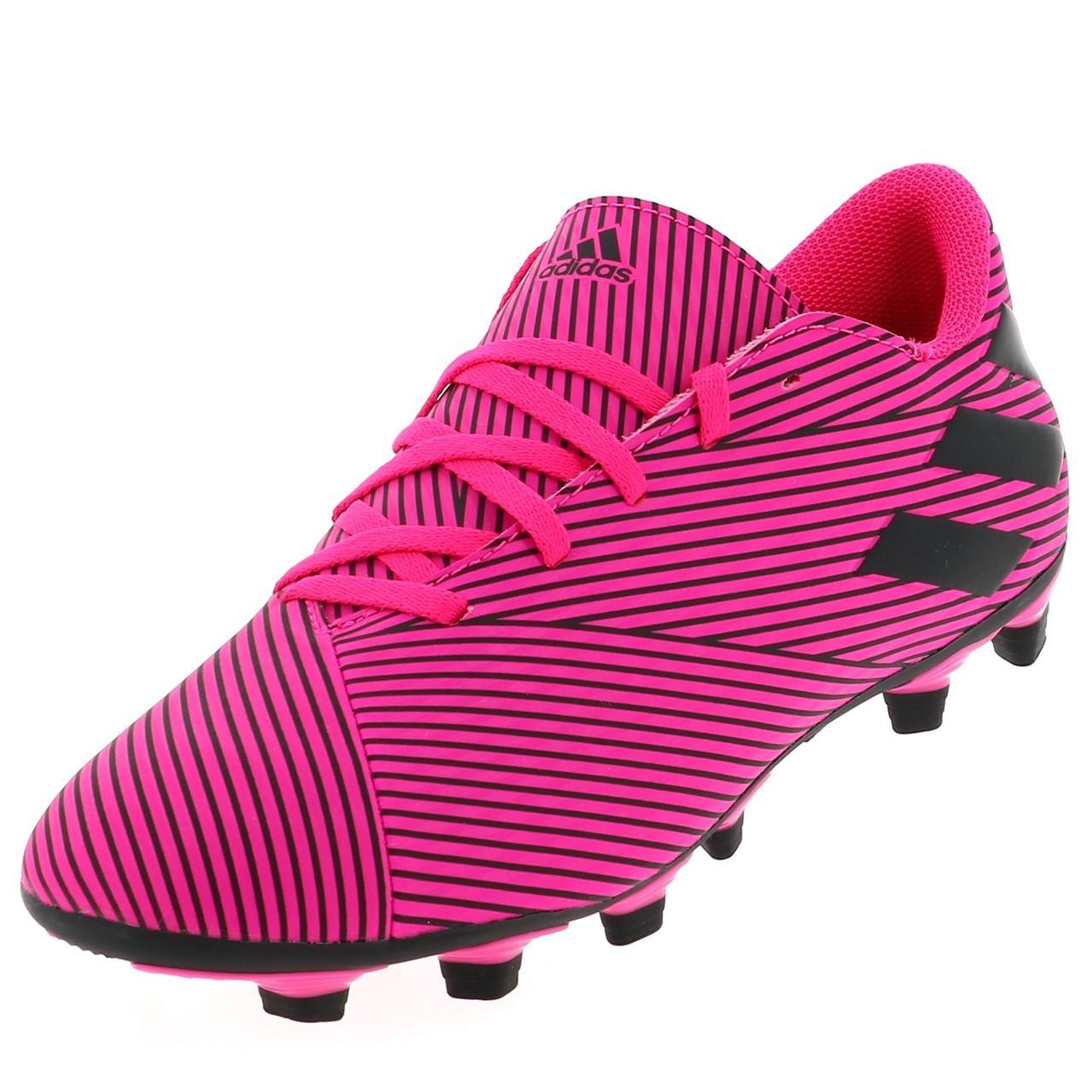 Football-Shoes-Flap-Adidas-Nemeziz-19-4-Fxg-Pink-48290-New