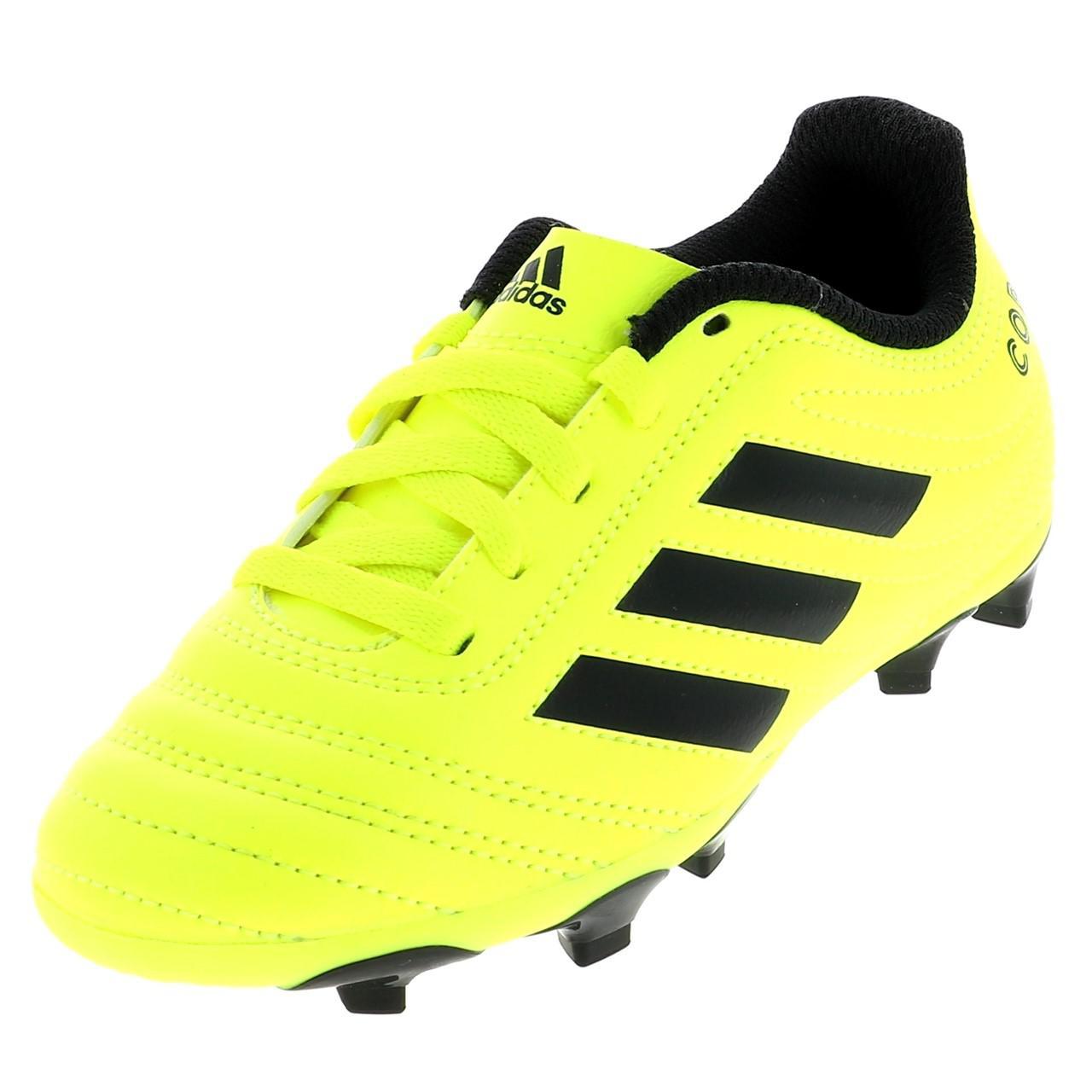 CHAUSSURES FOOTBALL LAMELLES Adidas Copa 19.4 fg jr Jaune
