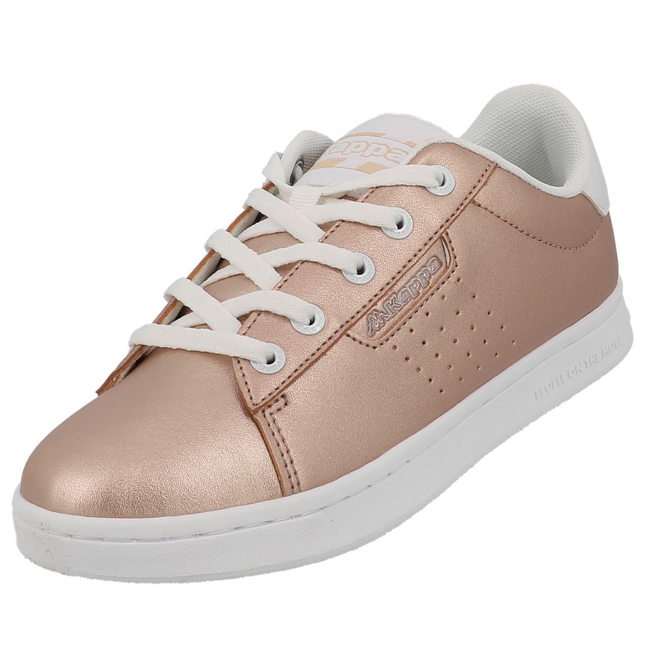 Schuhe-Niedrig-Leder-oder-Faux-Kappa-Tchouri-Schnuersenkel-Rauch-Beige-49612