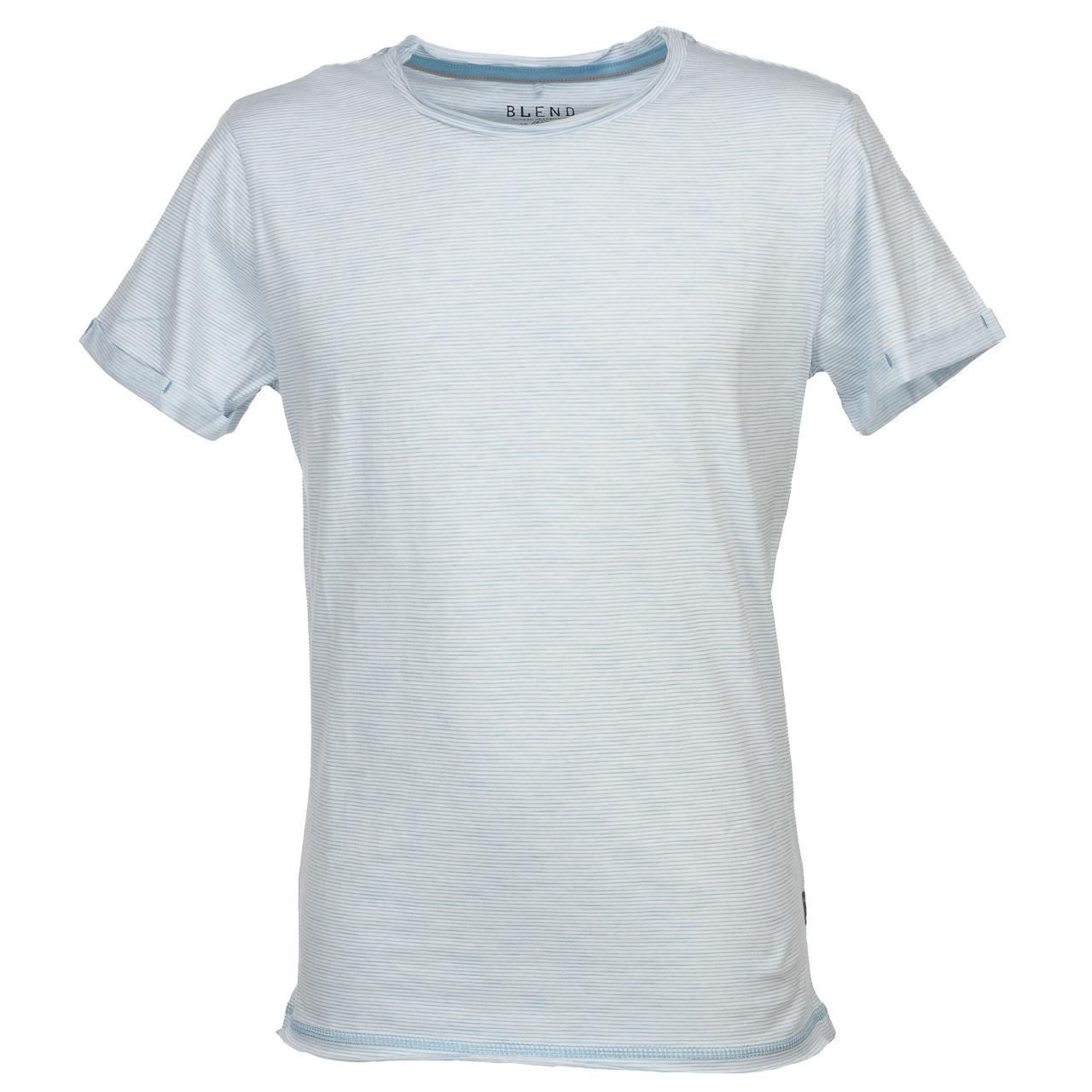 Short-Sleeve-T-Shirt-Blend-Prisco-Steel-Blue-Mc-Tee-Blue-52992-New