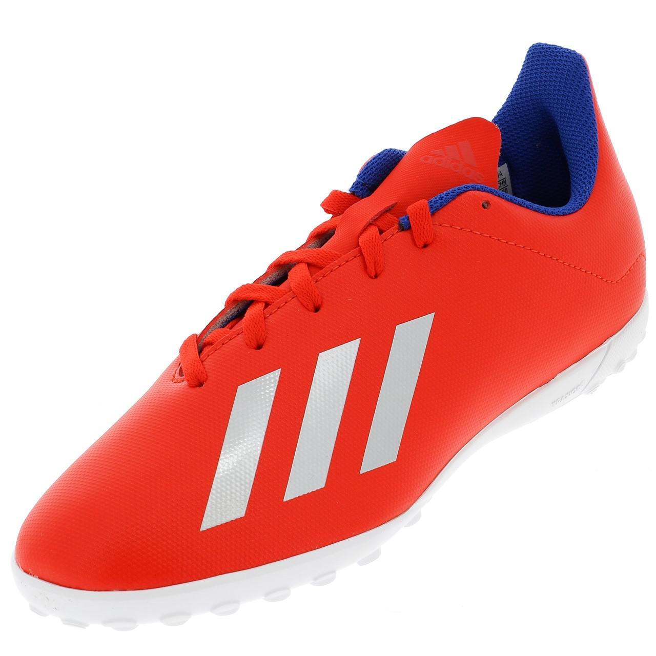 Football-Shoes-Bathroom-Indoor-Adidas-x-18-4-Tf-Jr-Red-54736-New