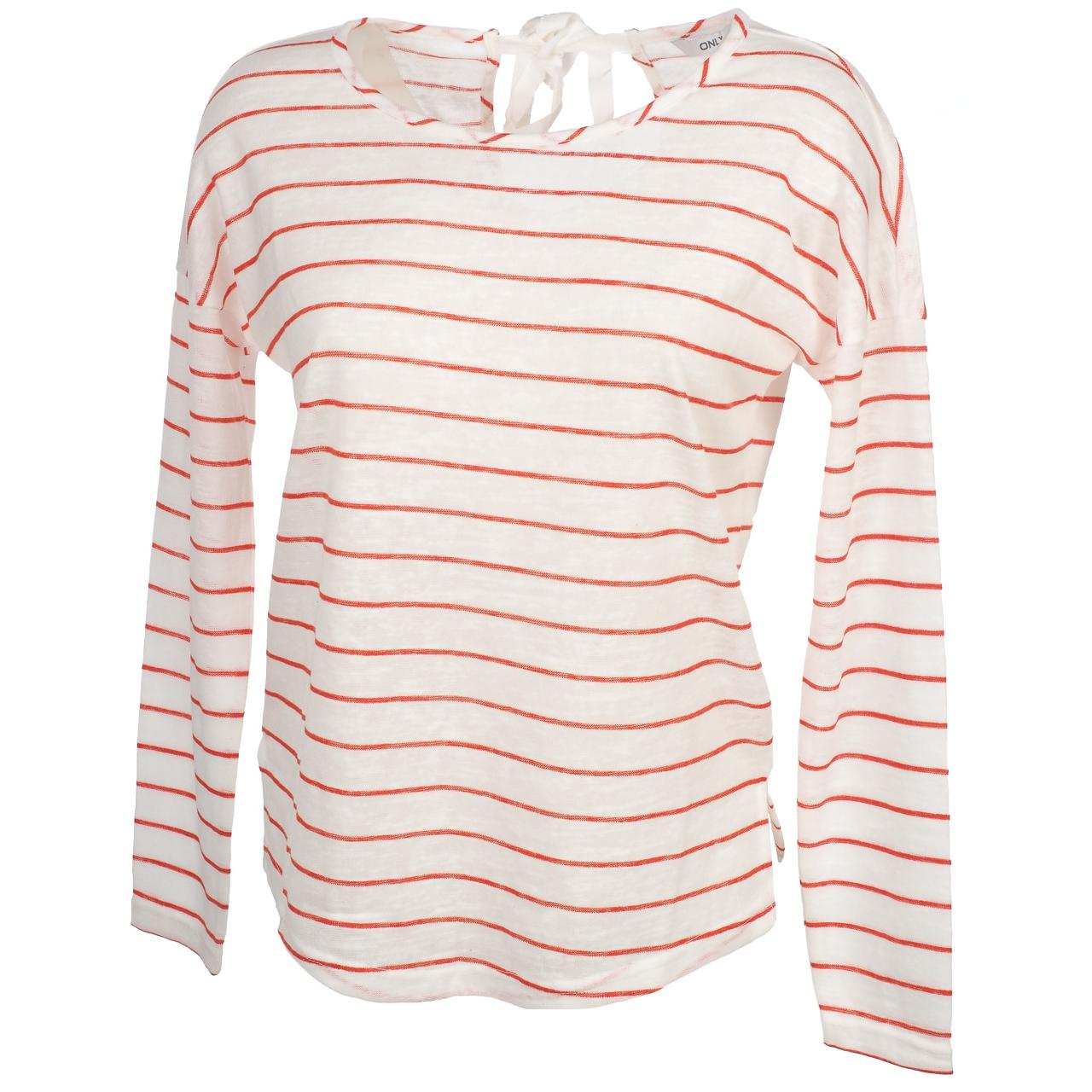 Tee-shirt-manches-longues-Only-Marina2-clouddancer-tee-l-Beige-54834-Neuf