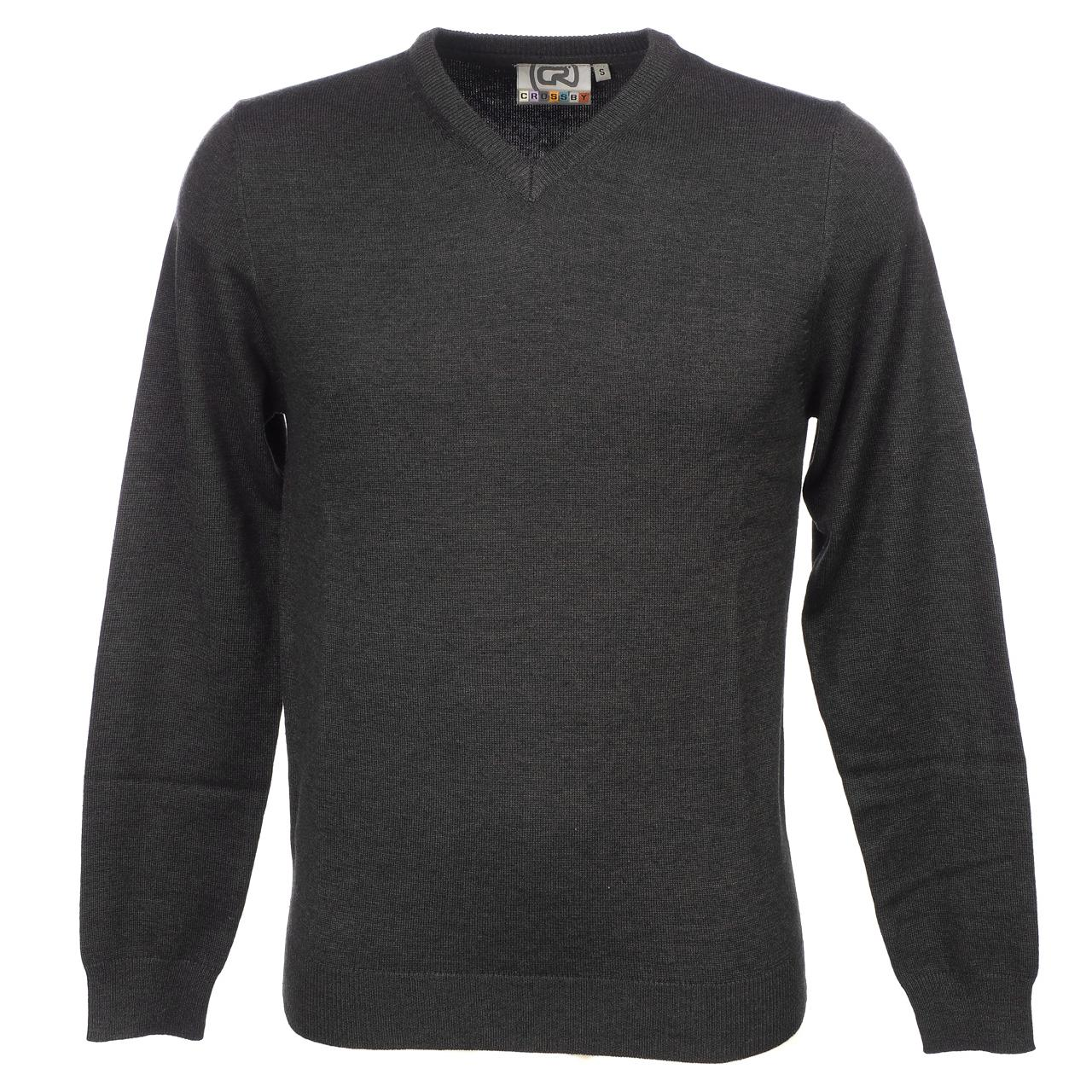 Sweater-Crossby-Twitt-Anc-V-Neck-Sweater-Grey-55732-New