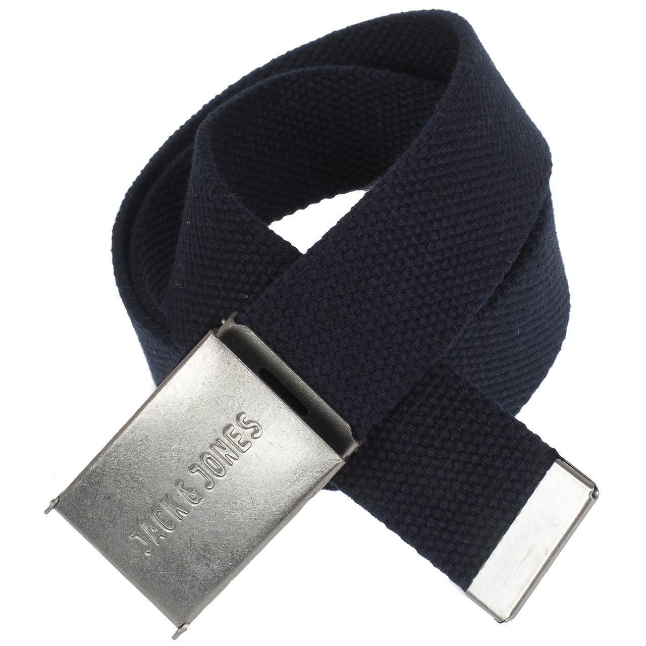 Belt-Jack-and-Jones-Solid-Navy-Woven-Belt-Blue-56525-New
